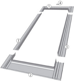Eindeckrahmen für flache, dünne Eindeckmaterialien ESV, ESJ, ESV-T Thermo